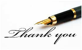 Image of pen and Thankyou